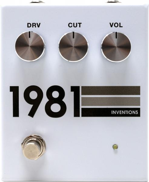 Overdrive, distortion & fuzz effect pedal 1981 inventions DRV no. 3 Preamp/Distortion - Grayscale