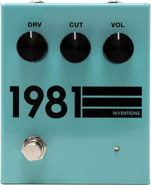 Overdrive, distortion & fuzz effect pedal 1981 inventions DRV no. 3 Preamp/Distortion - Teal Black