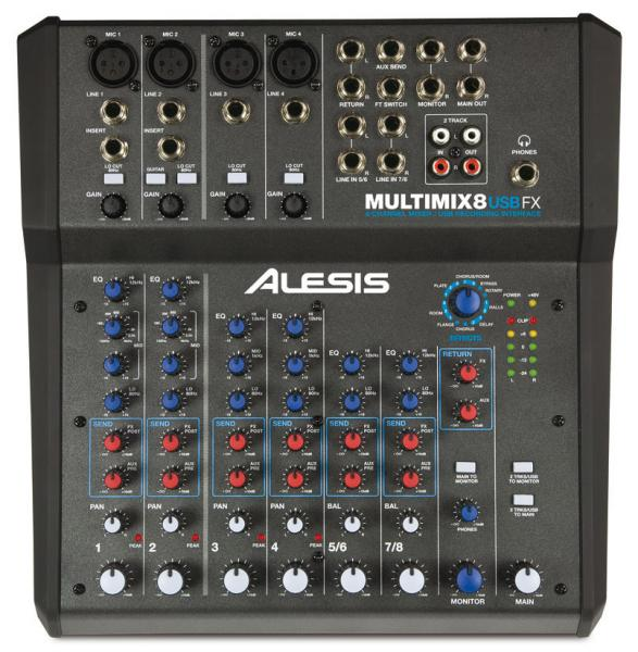 Analog mixing desk Alesis Multimix 8 USB FX