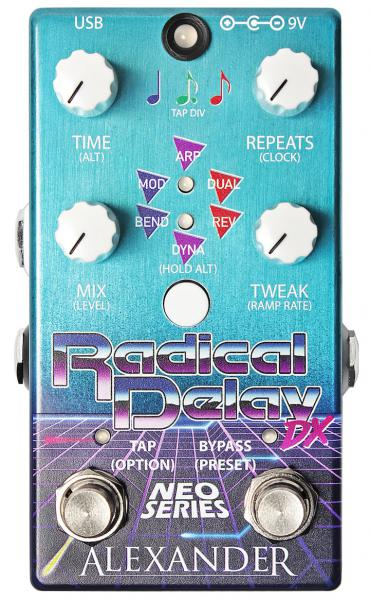Reverb, delay & echo effect pedal Alexander pedals Radical Delay DX