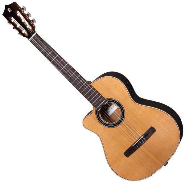 Classical guitar 4/4 size Alhambra Cross-Over CS-1 CW E1 Left Hand - Natural