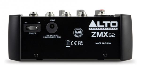 Analog mixing desk Alto ZMX52
