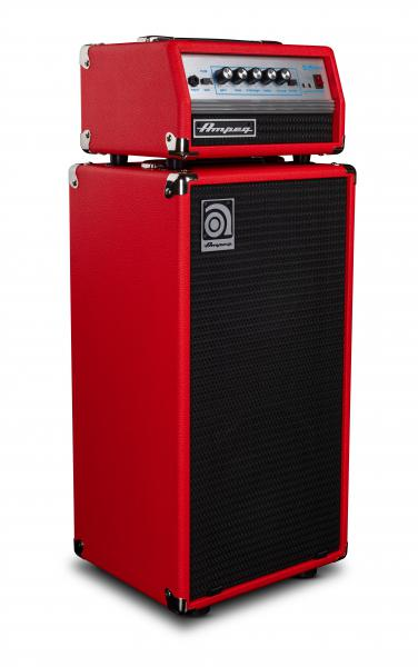 Bass amp stack Ampeg MICRO VR STACK RED LIMITED EDITION 2X10 200W