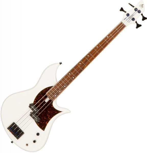 Solid body electric bass Aquilina Sirius 32 #052049 - White satin
