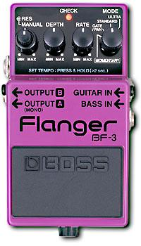 Modulation, chorus, flanger, phaser & tremolo effect pedal Boss BF-3 Flanger