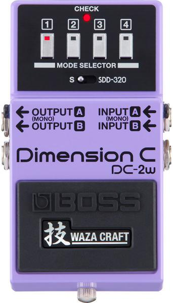 Modulation, chorus, flanger, phaser & tremolo effect pedal Boss DC-2W Dimension C