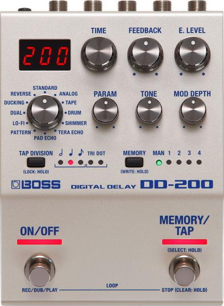 Reverb, delay & echo effect pedal Boss DD-200