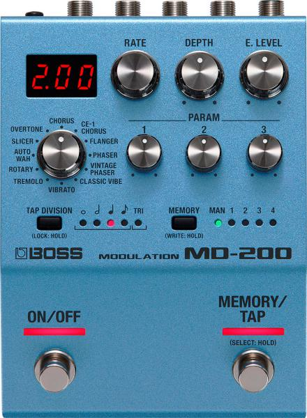 Modulation, chorus, flanger, phaser & tremolo effect pedal Boss MD-200