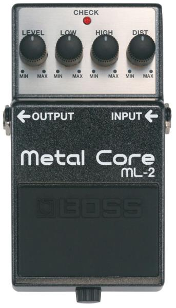 Overdrive, distortion & fuzz effect pedal Boss ML-2 Metal Core
