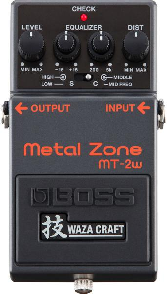 Overdrive, distortion & fuzz effect pedal Boss MT-2W Metal Zone Waza Craft