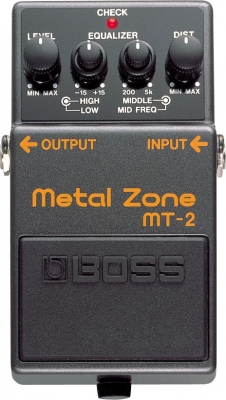 Overdrive, distortion & fuzz effect pedal Boss MT-2 Metal Zone