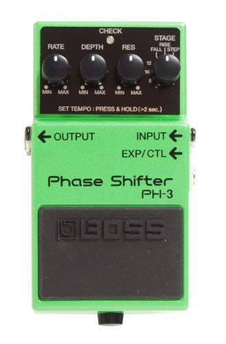 Modulation, chorus, flanger, phaser & tremolo effect pedal Boss PH-3 Phase Shifter - Green