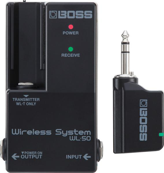 Wireless microphone for instrument  Boss WL-50 Wireless Guitar System for Pedalboard