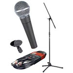 Microphone pack with stand