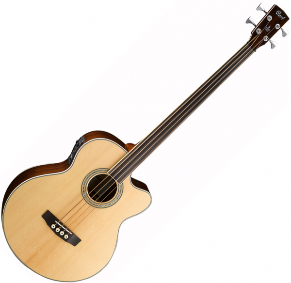 Acoustic bass Cort SJB6FX Fretless NAT +bag - Natural