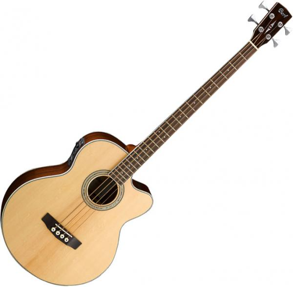 Acoustic bass Cort SJB6FX NAT +Bag - Naturel