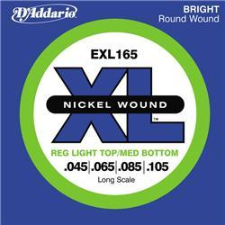 Electric bass strings D'addario EXL165 Nickel Wound Electric Bass 45-105
