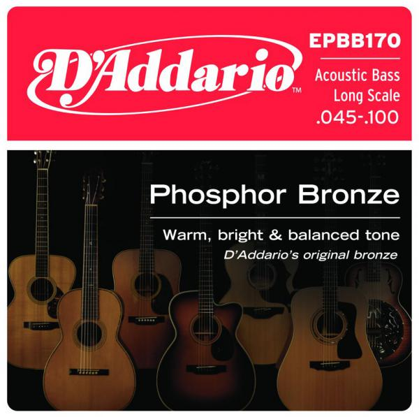 Acoustic bass strings D'addario EPBB170 Phosphor Bronze Acoustic Bass, Long Scale, 45-100