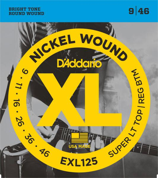Electric guitar strings D'addario EXL125 Nickel Round Wound 9-46 - set of strings