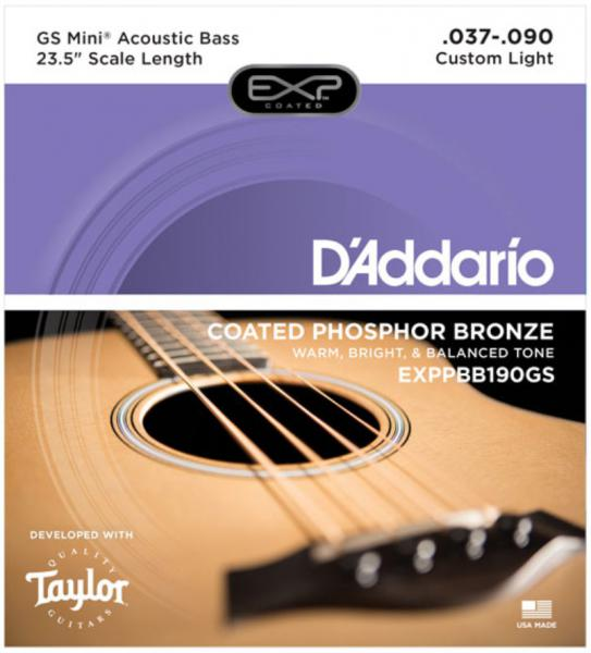 Acoustic bass strings D'addario EXPPBB190GS Taylor GS Mini Scale 37-90