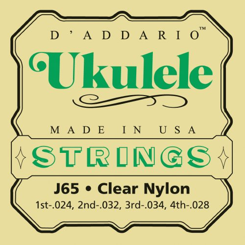 Ukulele strings D'addario Ukulele Family J65 Soprano Clear Nylon - Set of strings