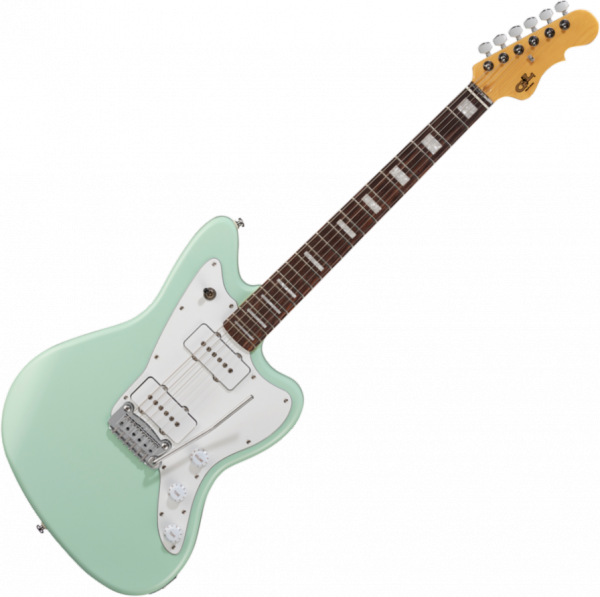 Solid body electric guitar G&l Tribute Doheny - Surf green