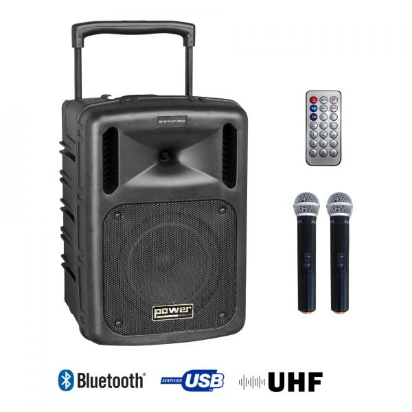 Portable pa system Power acoustics Be 9610 UHF Media