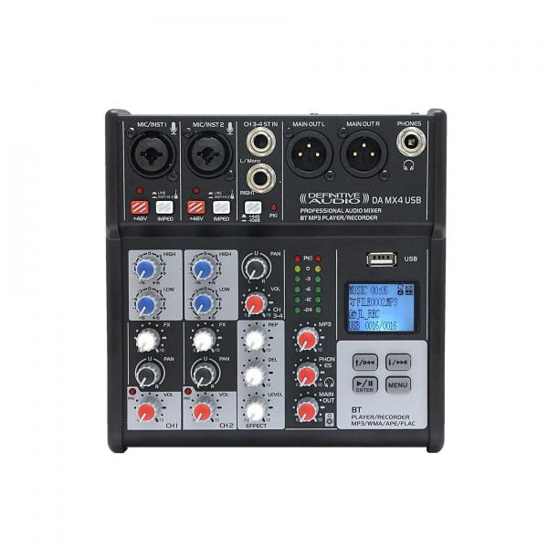 Analog mixing desk Definitive audio DA MX4 USB