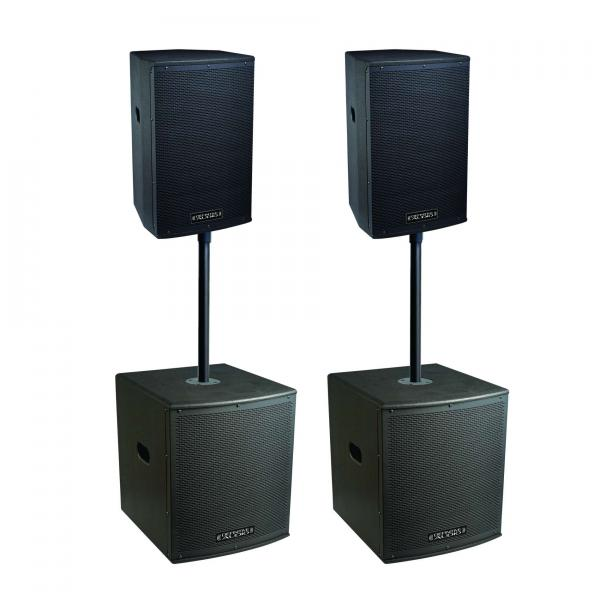 Complete pa system Definitive audio Koala Neo 3800 Quad