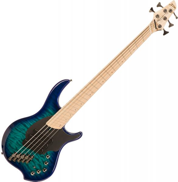 Solid body electric bass Dingwall Combustion 5 3-Pickups (MN) - Whalepool burst