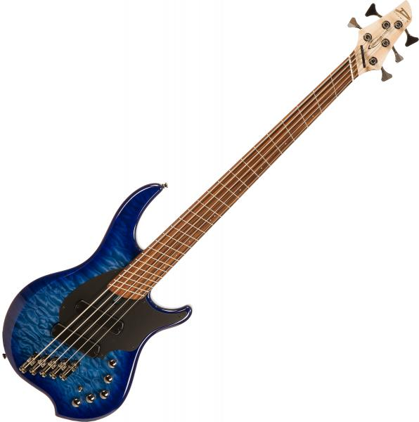 Solid body electric bass Dingwall Combustion 5 3-Pickups (PF) - Indigo burst