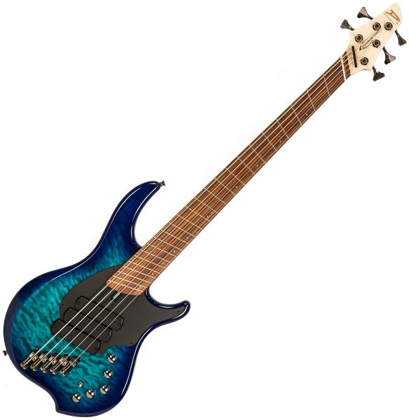 Solid body electric bass Dingwall Combustion 5 3-Pickups (PF) - Whalepool burst