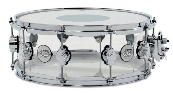 Snare drums Dw ACRY 14X8 SMOKED ACRYLIC - Transparent
