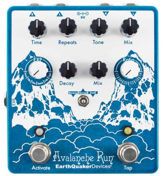 Reverb, delay & echo effect pedal Earthquaker Avalanche Run Stereo Reverb & Delay V2