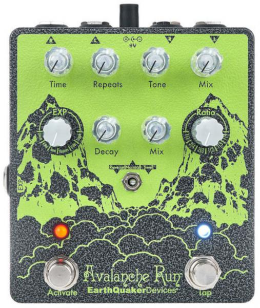 Reverb, delay & echo effect pedal Earthquaker Avalanche Run Stereo Reverb & Delay V2 Ryo Ltd