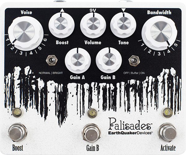 Overdrive, distortion & fuzz effect pedal Earthquaker Palisades V2