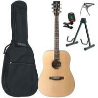 Acoustic guitar set Eastone DR100-NAT +X-Tone Bag Pack - Natural satin