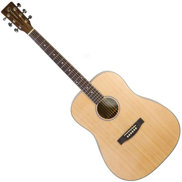 Acoustic guitar & electro Eastone DR100-NAT Left Hand - Natural satin