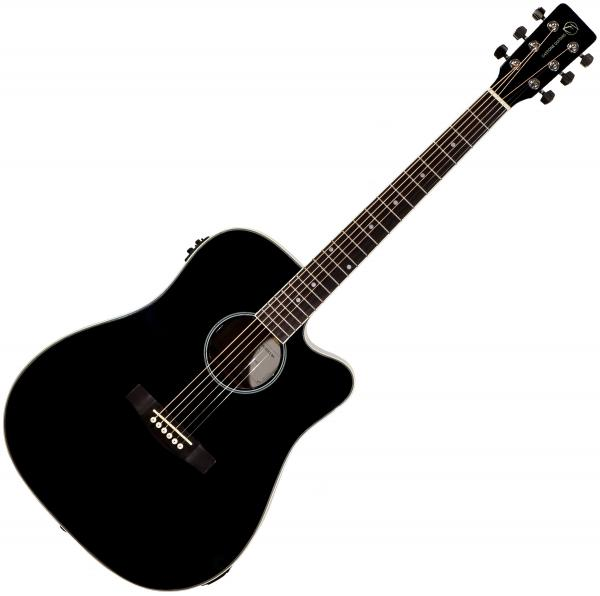 Acoustic guitar & electro Eastone DR100CE-BLK - Black