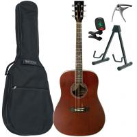 Acoustic guitar set Eastone DR150-NAT + X-Tone Bag Pack - Natural satin