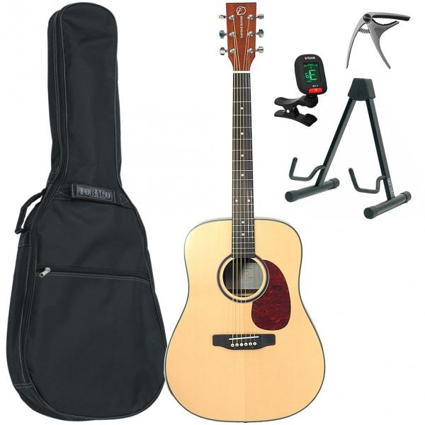 Acoustic guitar set Eastone DR200-NAT + X-Tone Bag Pack - Natural