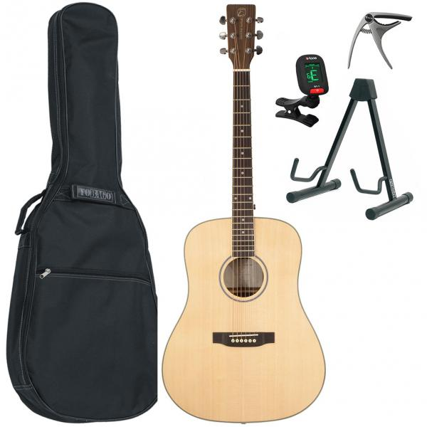 Acoustic guitar set Eastone DR260-NAT + X-Tone Bag Pack - Natural