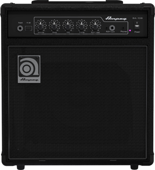 Electric bass set Eastone JAB +Ampeg BA108 +Accessoires - black