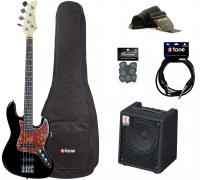 Electric bass set Eastone JAB +Eden EC8 +Accessories - Black
