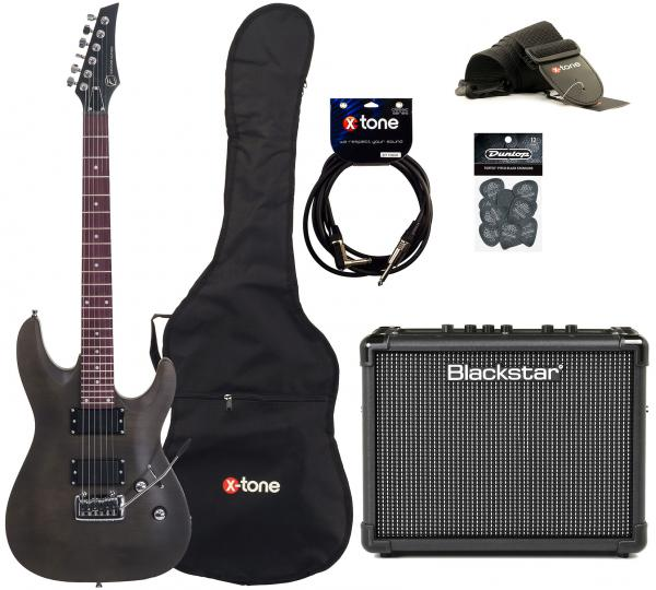 Electric guitar set Eastone METDC +Blackstar Id Core Stereo 10 +Accessories - Black satin