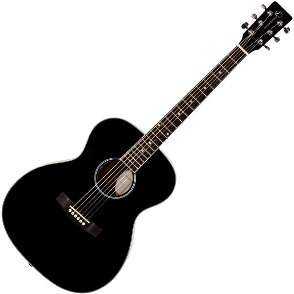 Acoustic guitar & electro Eastone OM100-BLK - Black