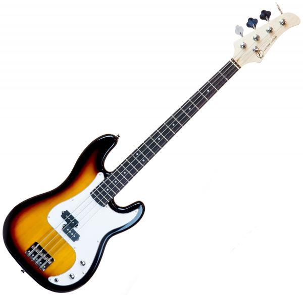 Solid body electric bass Eastone PRB (PUR) - 3 tone sunburst