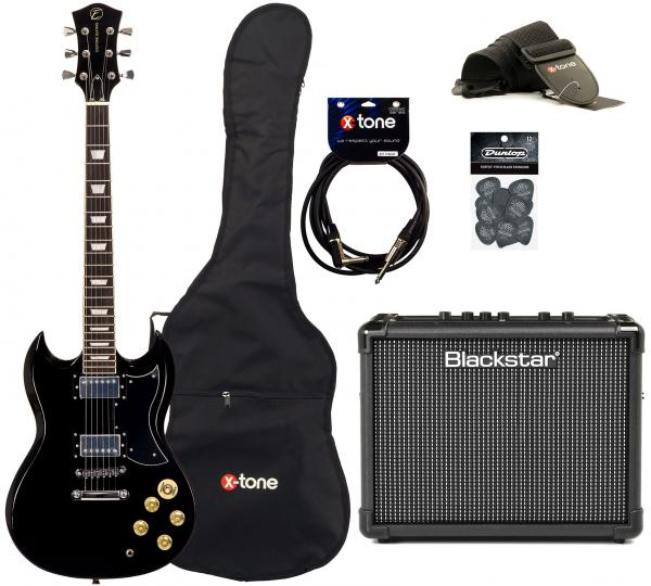 Electric guitar set Eastone SDC70 +Blackstar Id Core Stereo 10 +Accessoires - Black