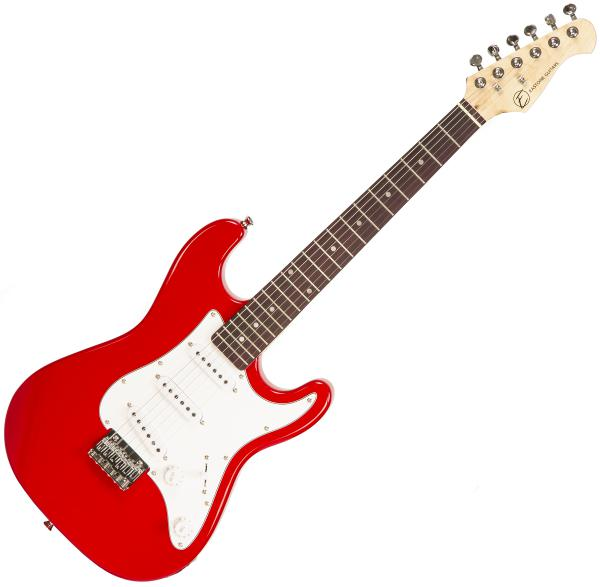 Electric guitar for kids Eastone STR Mini - red