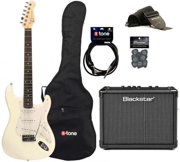 Electric guitar set Eastone STR70 +Blackstar Id Core Stereo 10 +Accessories - White